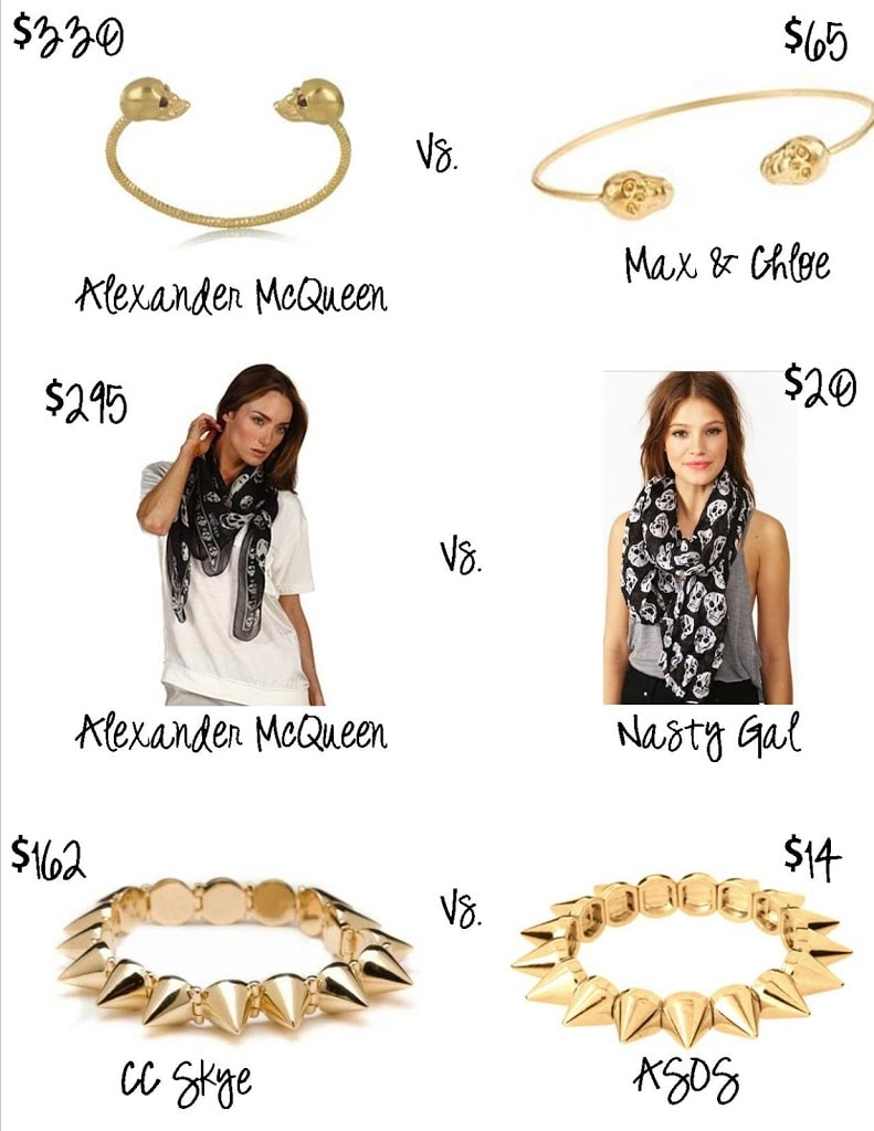 splurge vs steal {edgy accessories}