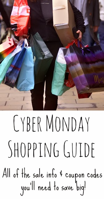 The Ultimate Cyber Monday Shopping Guide {Sales and Coupon Codes!}