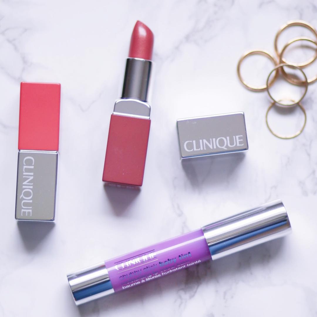 Clinique Lip Pop Lipstick and Chubby Stick #FaceForward