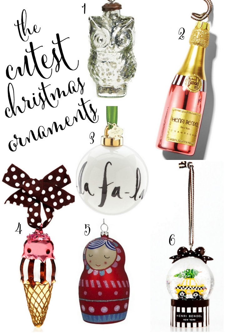 the cutest christmas ornaments