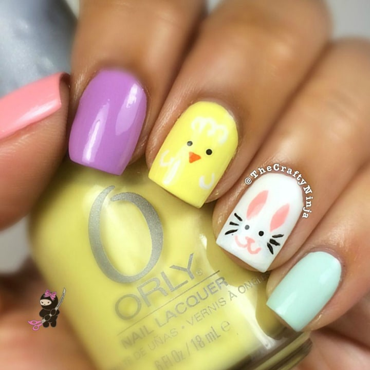 Fun easter nail designs easter bunny nail art normandlou fun easter nail designs easter nail art manicure ideas prinsesfo Gallery