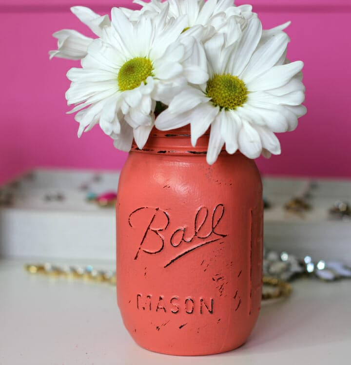 DIY Antiqued Mason Jars Tutorial - cute mason jar flower vase | Florida Blogger Ashley Brooke Nicholas