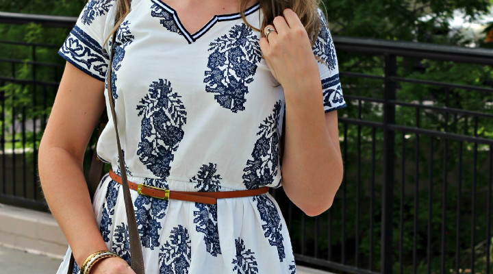 White + Blue Summer Look