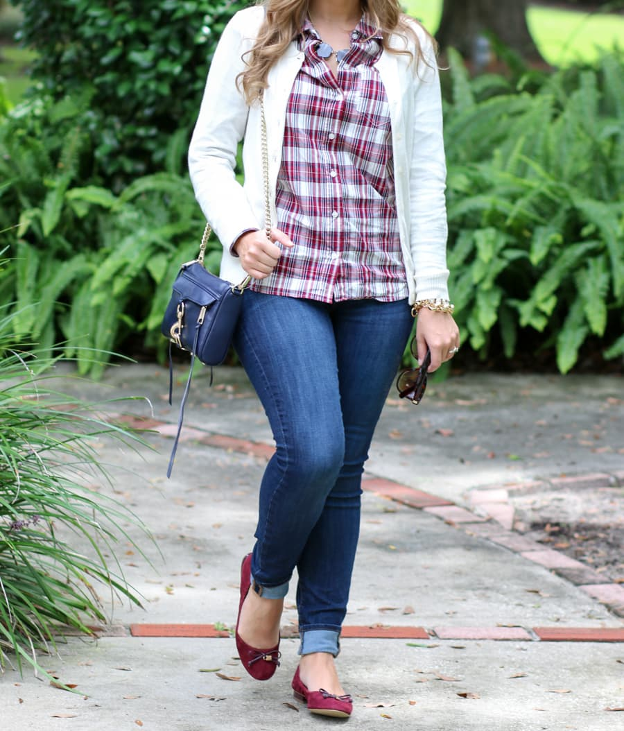 preppy outfit with jeans