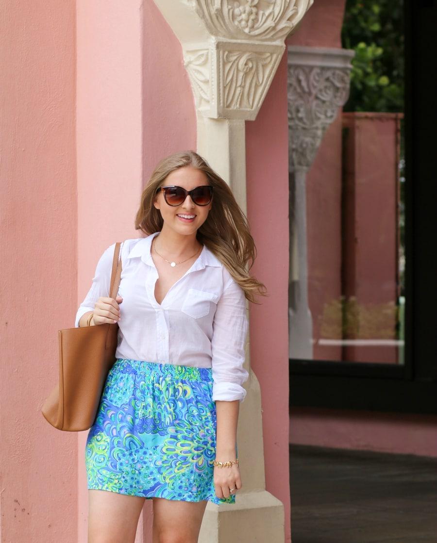 Lilly Pulitzer Anna Maria Button Down Skirt-ashley brooke nicholas
