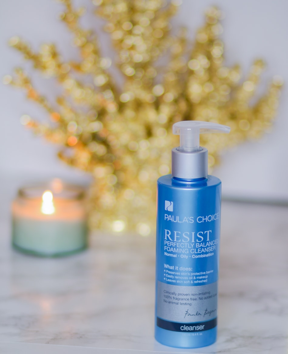 Looking for a gentle daily cleanser? The Perfectly Balanced Foaming Cleanser from Paula's Choice Resist line is absolutely perfect for oily, normal, and combination skin types. It removes oil and dirt without dying out your skin!