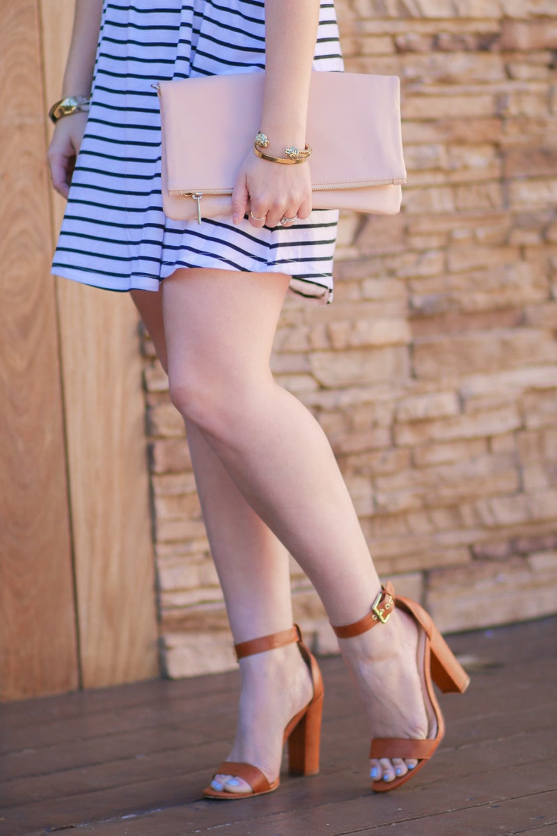 The perfect cognac heeled sandals for spring and summer!
