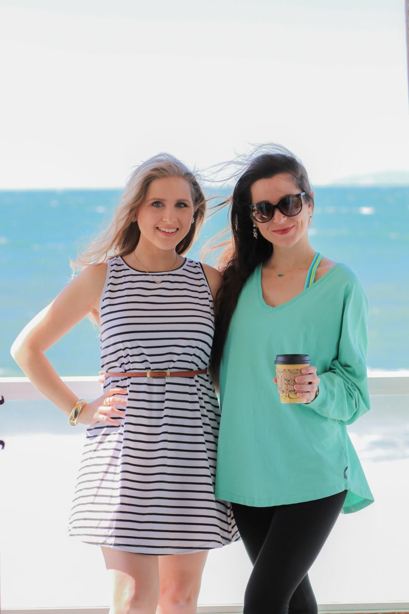 Bloggers Ashley Brooke and Diary of A Debutnate at the Pacific Edge Hotel in Laguna Beach, California