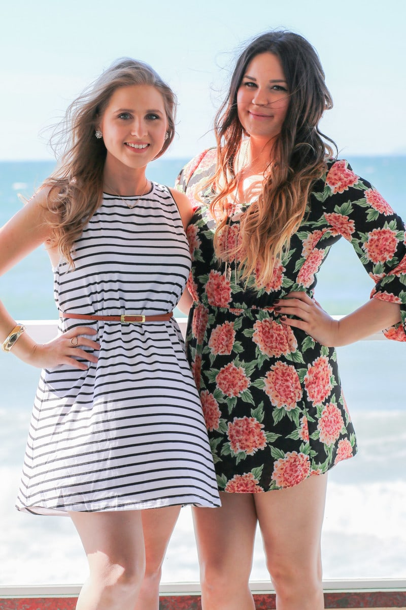 Bloggers Ashley Brooke Nicholas and Mash Elle at the Pacific Edge Hotel in Laguna Beach, California