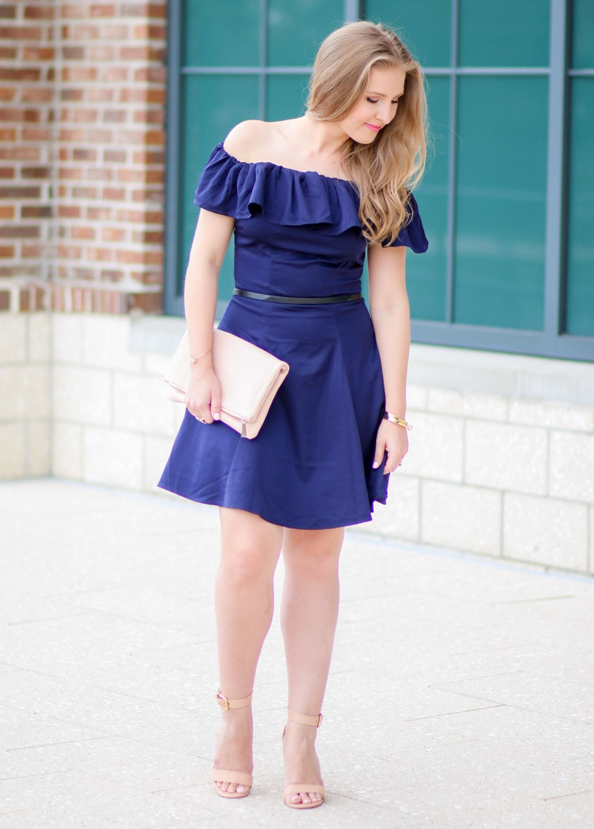 Such an adorable off-the-shoulder dress!