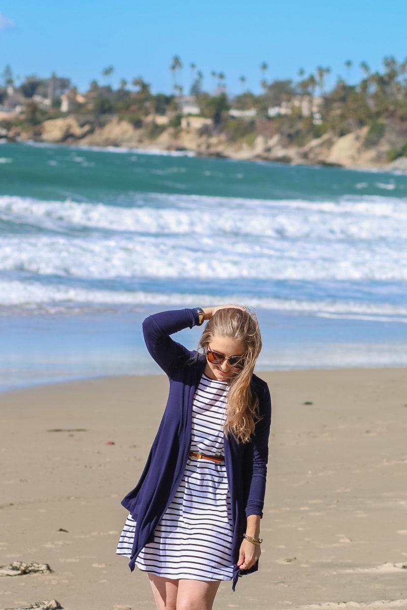 Blogger Ashley Brooke Nicholas at the Pacific Edge Hotel in Laguna Beach, California