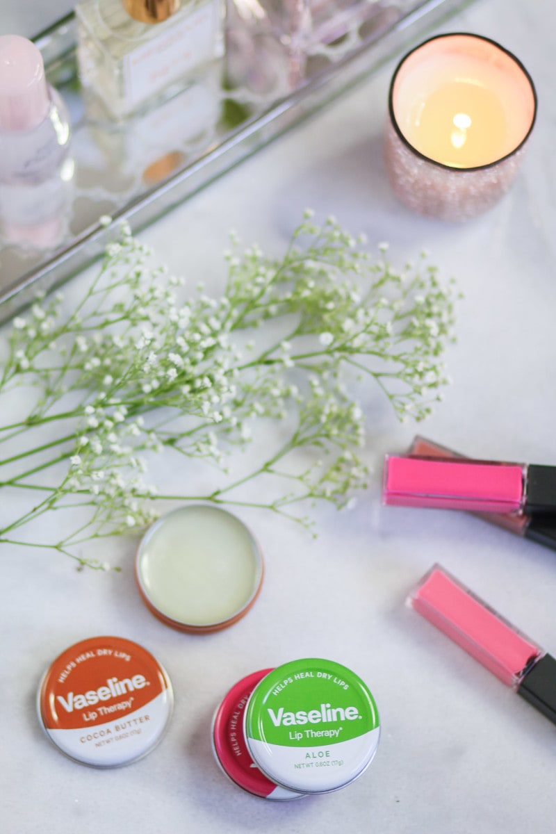 The Vaseline Lip Therapy lip tins are finally available in the U.S., and they are INCREDIBLE. The formula is incredibly moisturizing and quickly heals chapped lips. I'm obsessed with the Rosy Lips scent! Click through this pin to learn more and read a full review from ashleybrookenicholas.com!