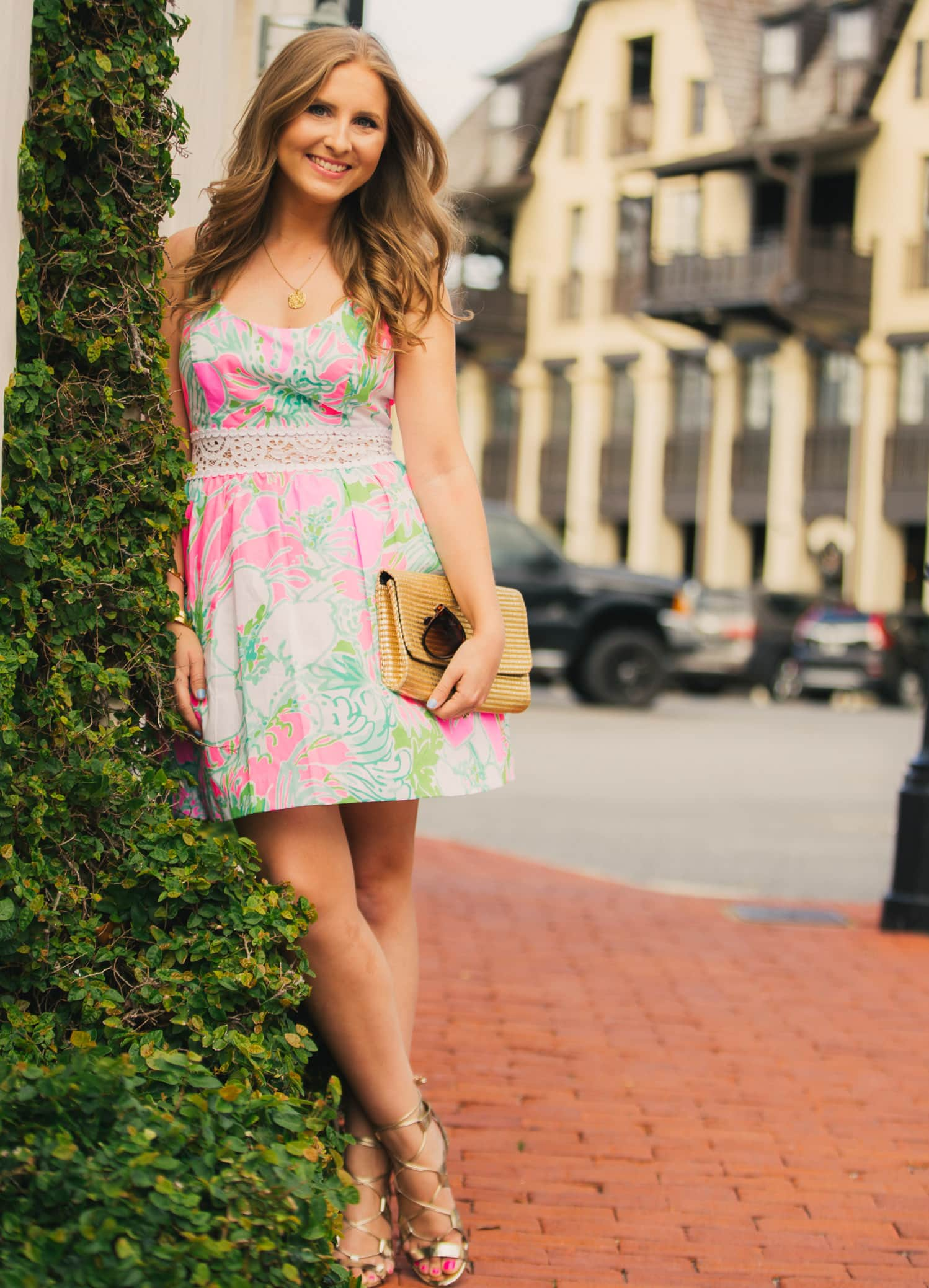 LOVING this @lillypulitzer dress for summer! I think the Lilly Pulitzer Rosemarie Dress in Pink Flamingo I Don't Give A Cluck might be my favorite design/print combo of all time! It was the perfect dress for our Rosemary Beach vacation!
