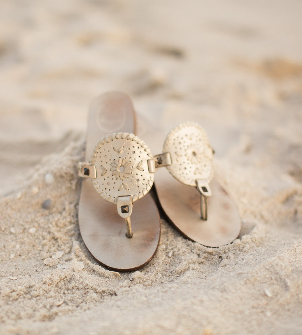 The Jack Rogers Georgica sandals in platinum are my favorite shoes for the summer! They look fabulous with everything from dresses to jeans!