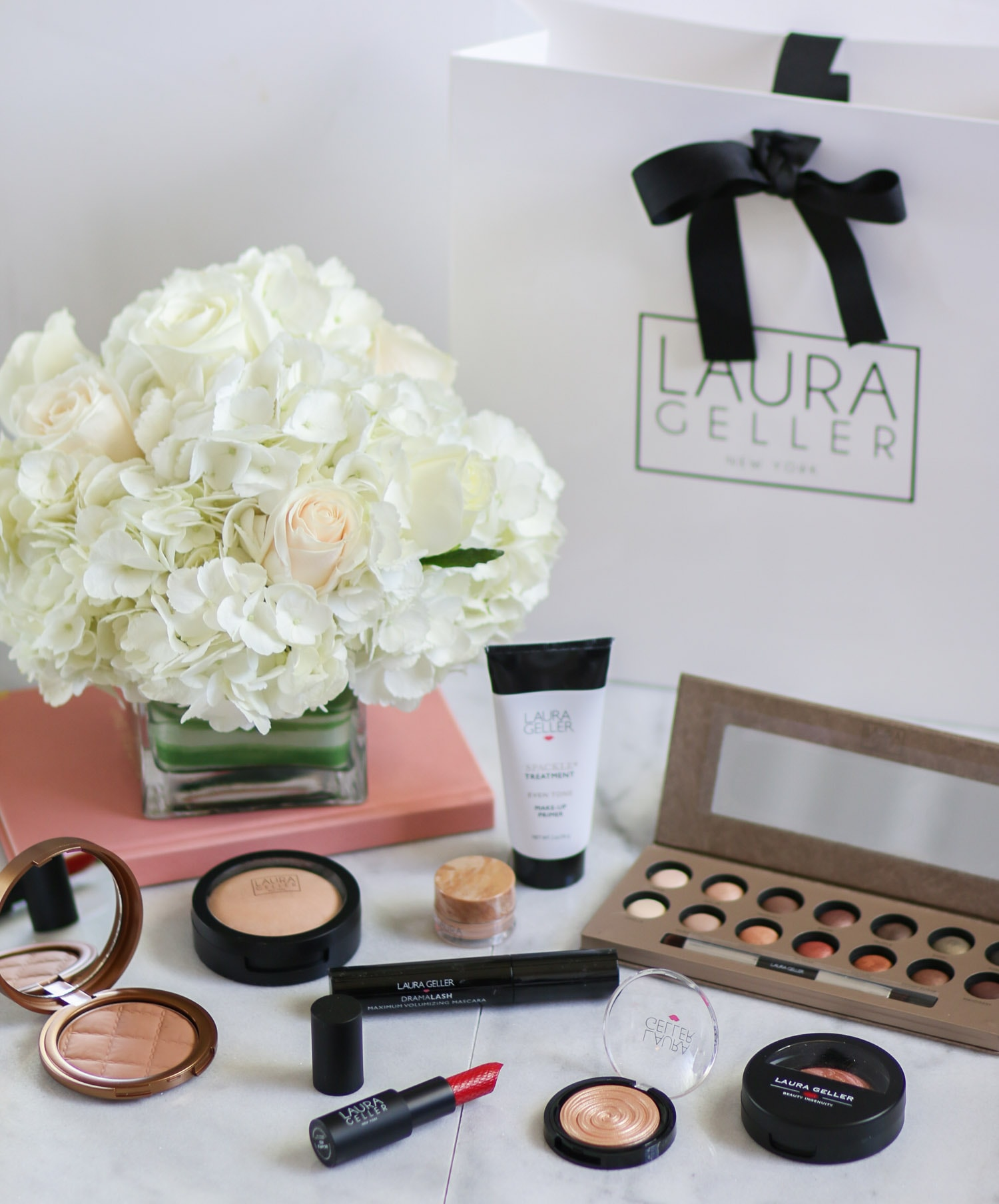 I've been SO incredibly impressed with these Laura Geller makeup products. They give a naturally pretty look, and all of the products are basically fool-proof. Click through this pin to see a full review + swatches of the @laurageller Baked Iconic lipsticks from beauty blogger Ashley Brooke Nicholas!