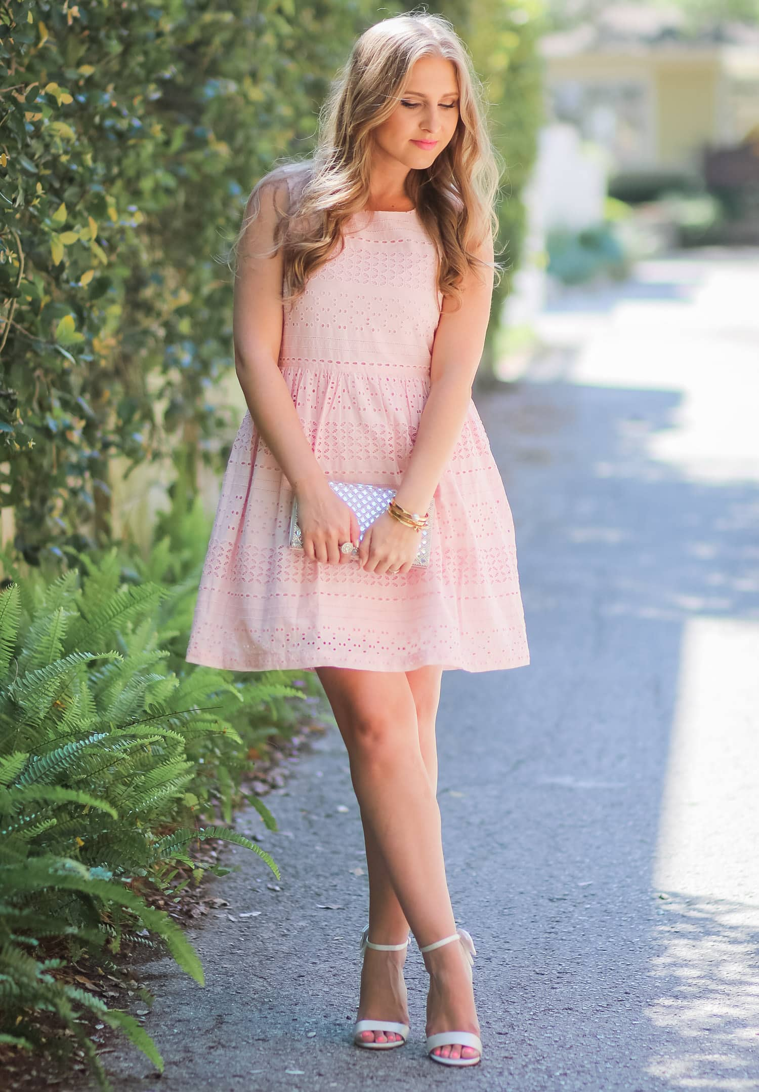 29f3e512cc1 The most darling spring or summer wedding outfit idea from style blogger  Ashley Brooke! I
