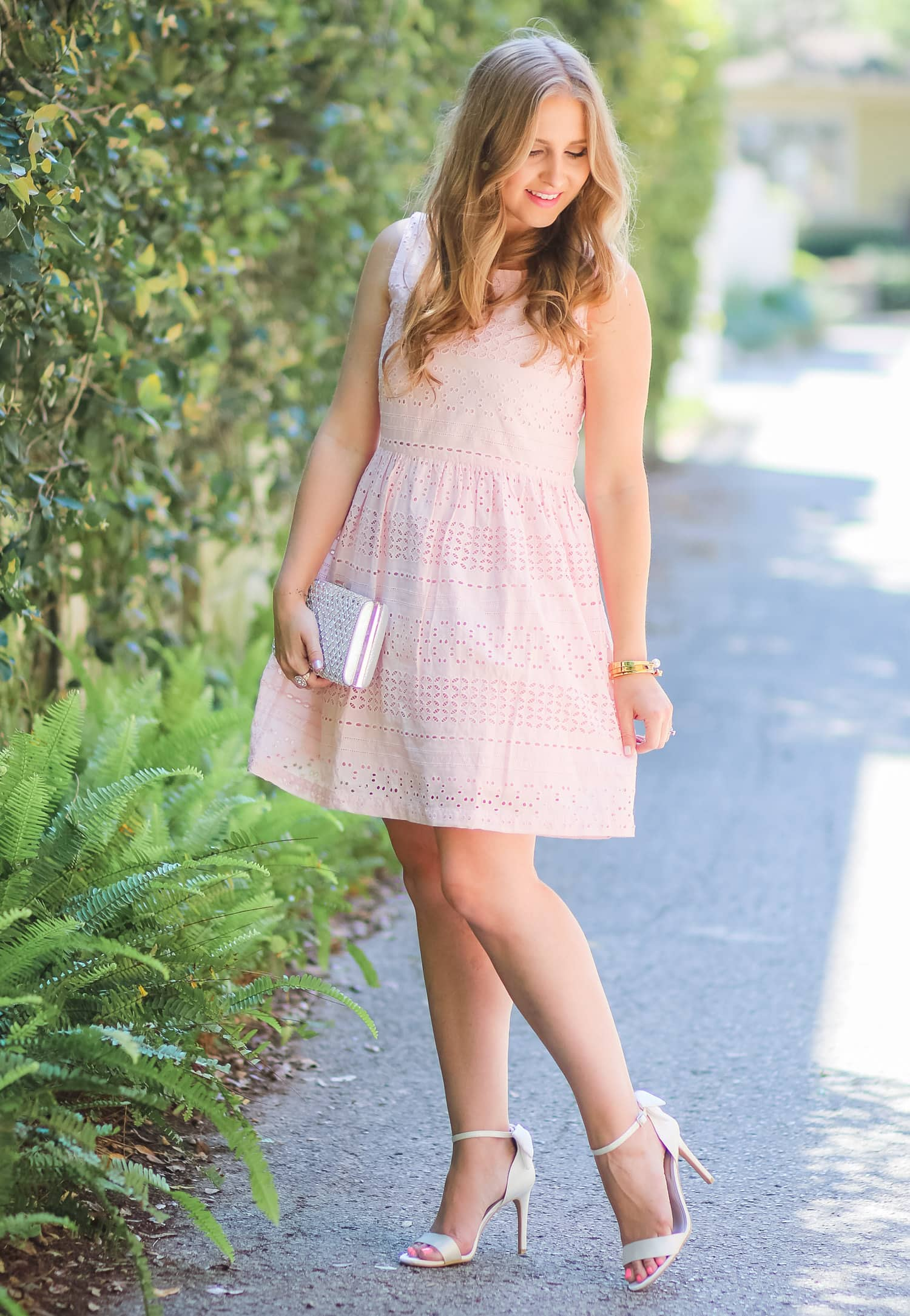 454268b645f This is the perfect spring or summer wedding guest outfit idea. I love how  style
