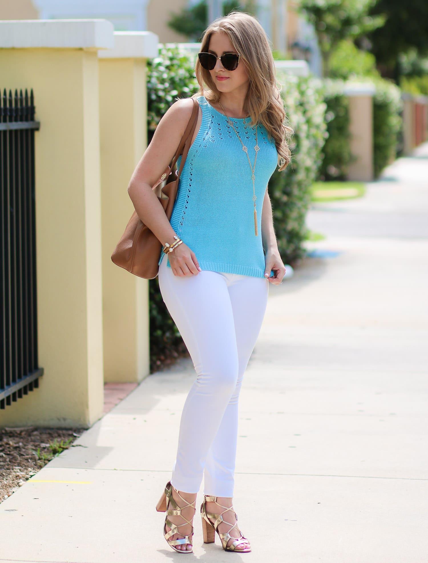 Lilly-Pulitzer-Mac-Sweater-Tank-Breakwater-Blue-Banana-republic-gold-lace-up-heels-fashion-blogger-ashley-brooke-nicholas-2991