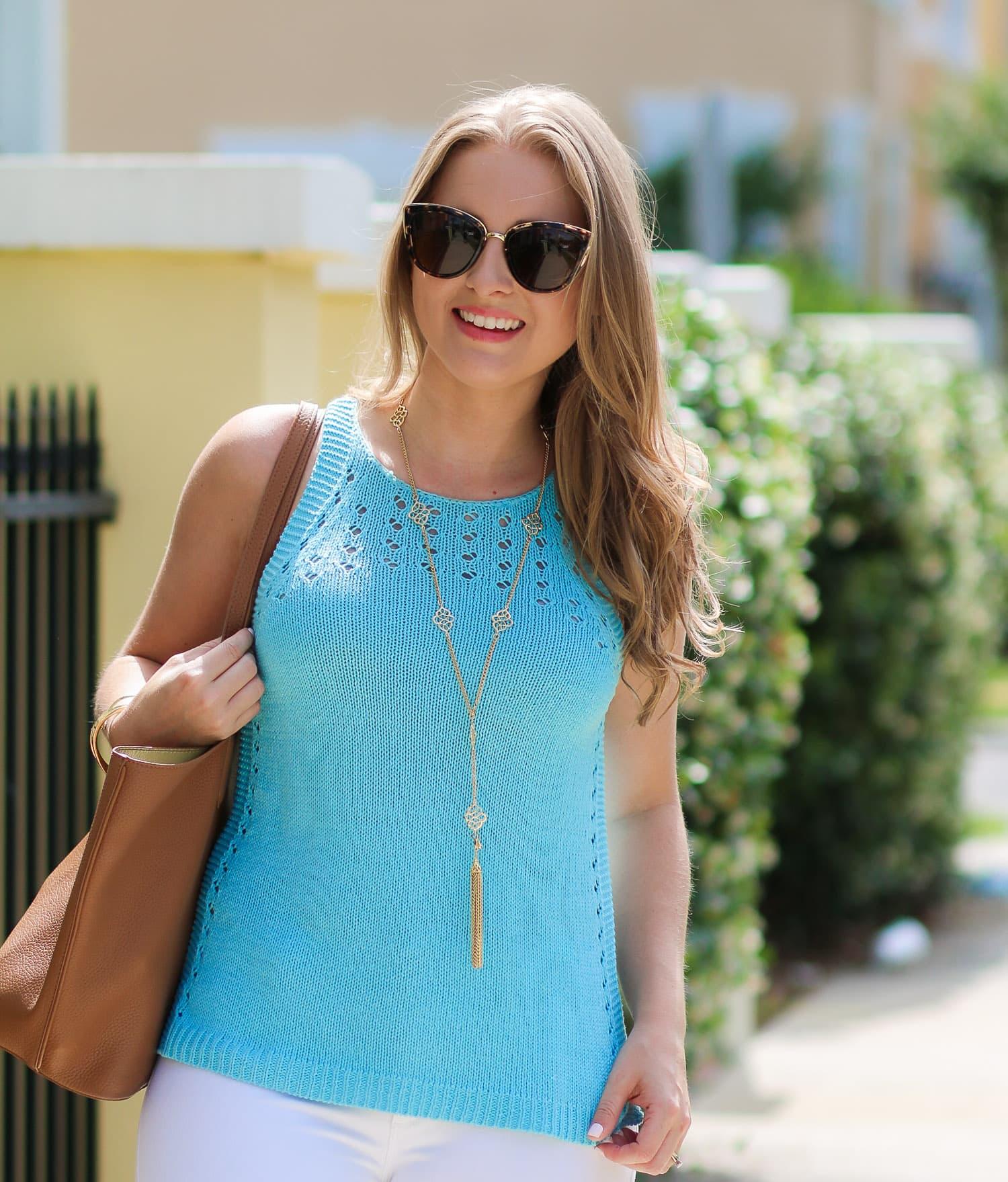 Lilly-Pulitzer-Mac-Sweater-Tank-Breakwater-Blue-Banana-republic-gold-lace-up-heels-fashion-blogger-ashley-brooke-nicholas-2996
