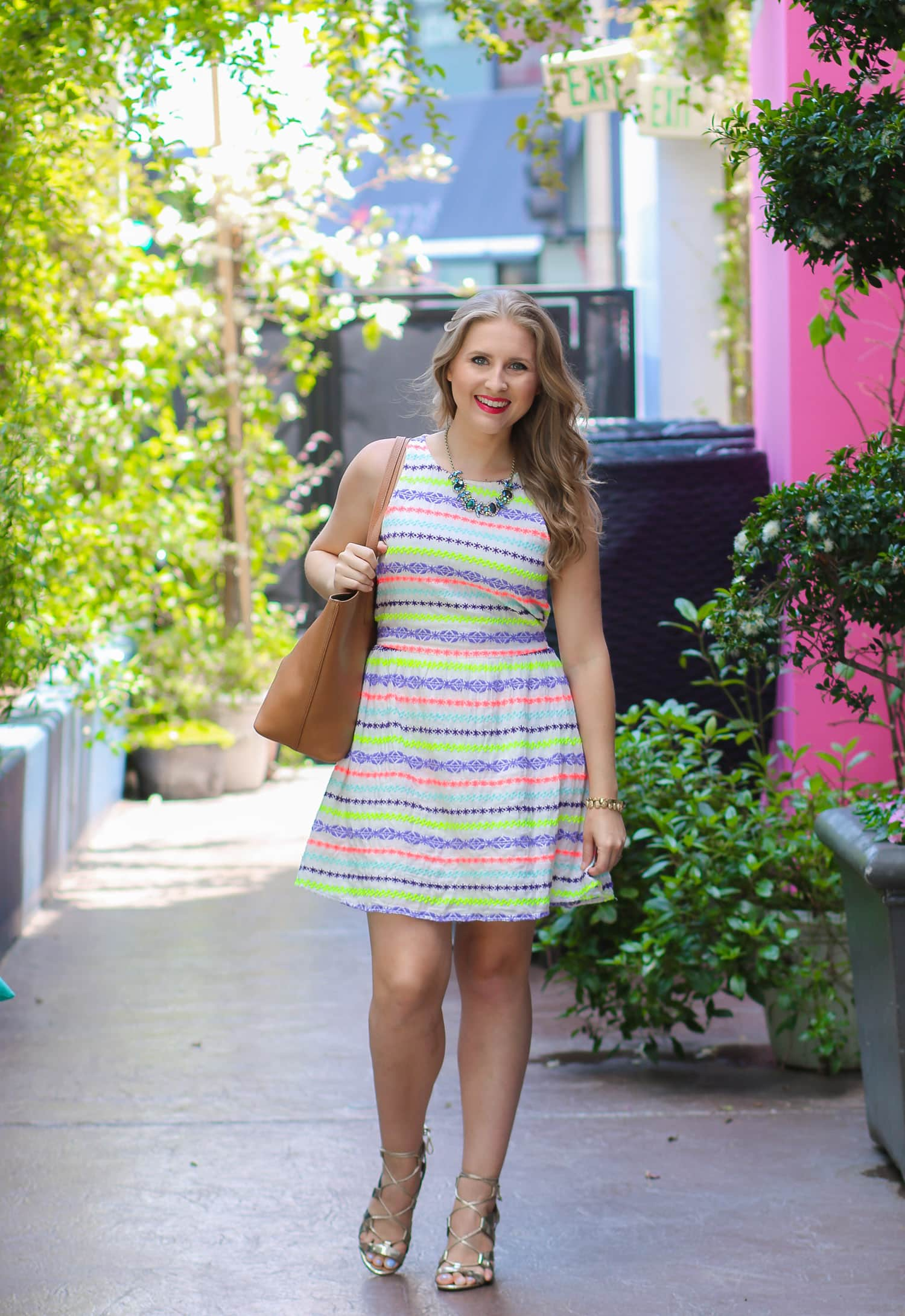 Loving this Target girls' section striped dress! Click through this pin to see where you can buy the dress! P.S. It's under $20!