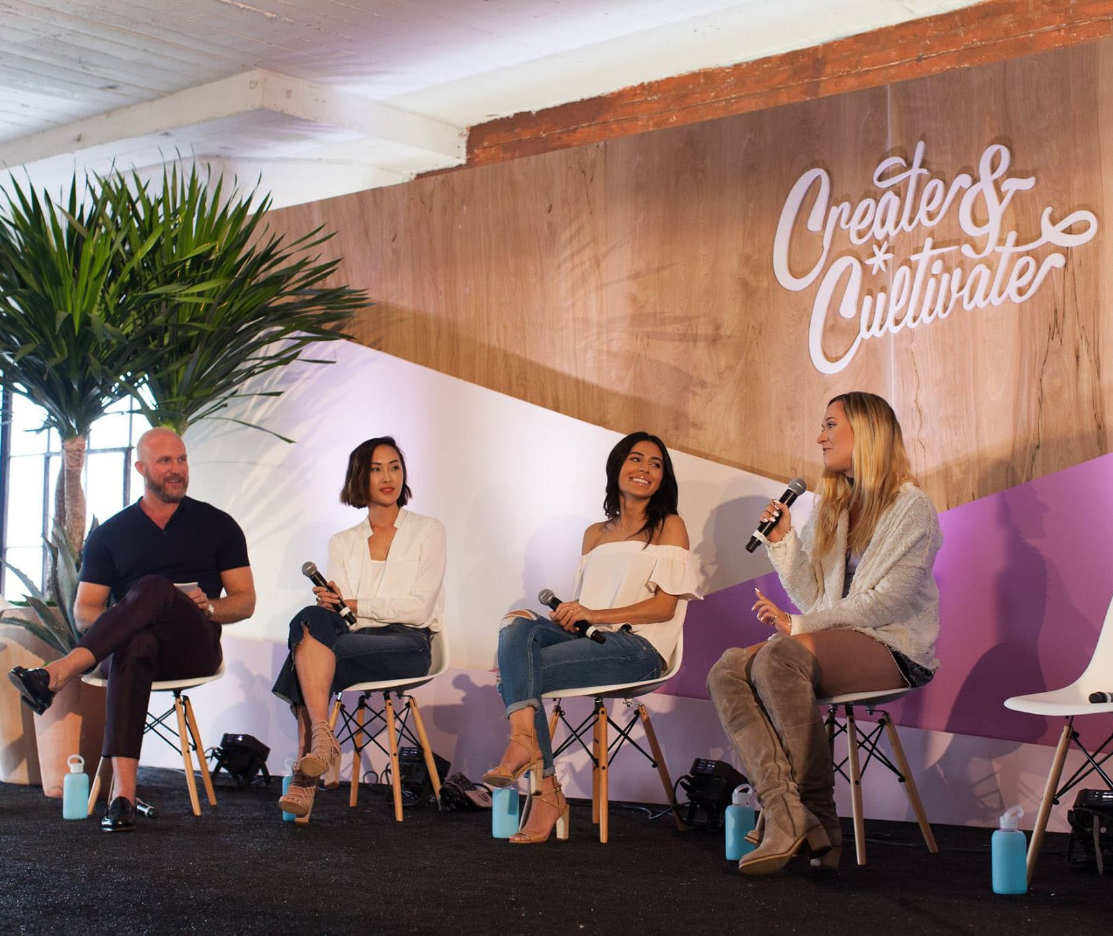 Teni Panosian from Miss Maven, Chriselle Lim from The Chriselle Factor, and Alisha Marie | Create + Cultivate Los Angeles 2016 Conference Recap + Review | Beauty and Style Blogger Ashley Brooke Nicholas