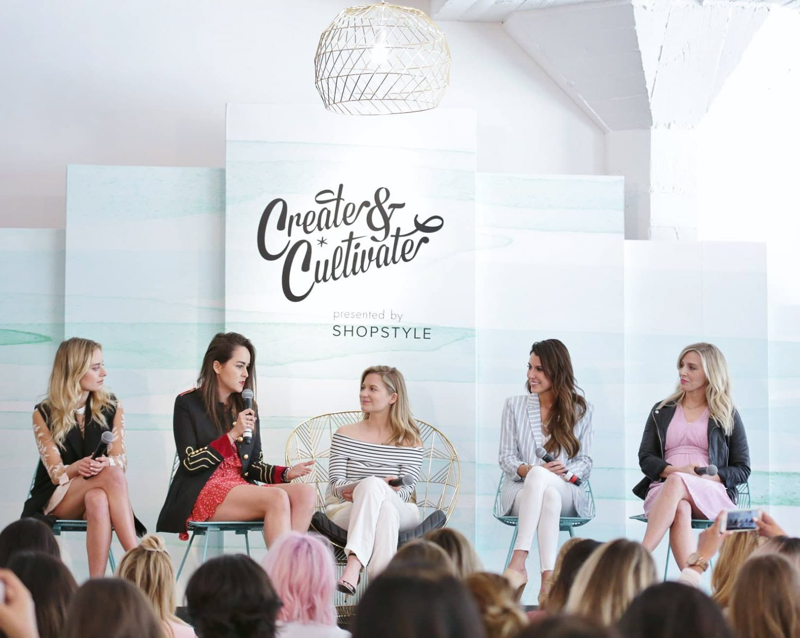 Sonya Esman from Class Is Internal, Andy Torres from Style Scrapbook, Taylor Sterling from The Glitter Guide, and Christine Andrew from Hello Fashion Blog | Create + Cultivate Los Angeles 2016 Conference Recap + Review | Beauty and Style Blogger Ashley Brooke Nicholas
