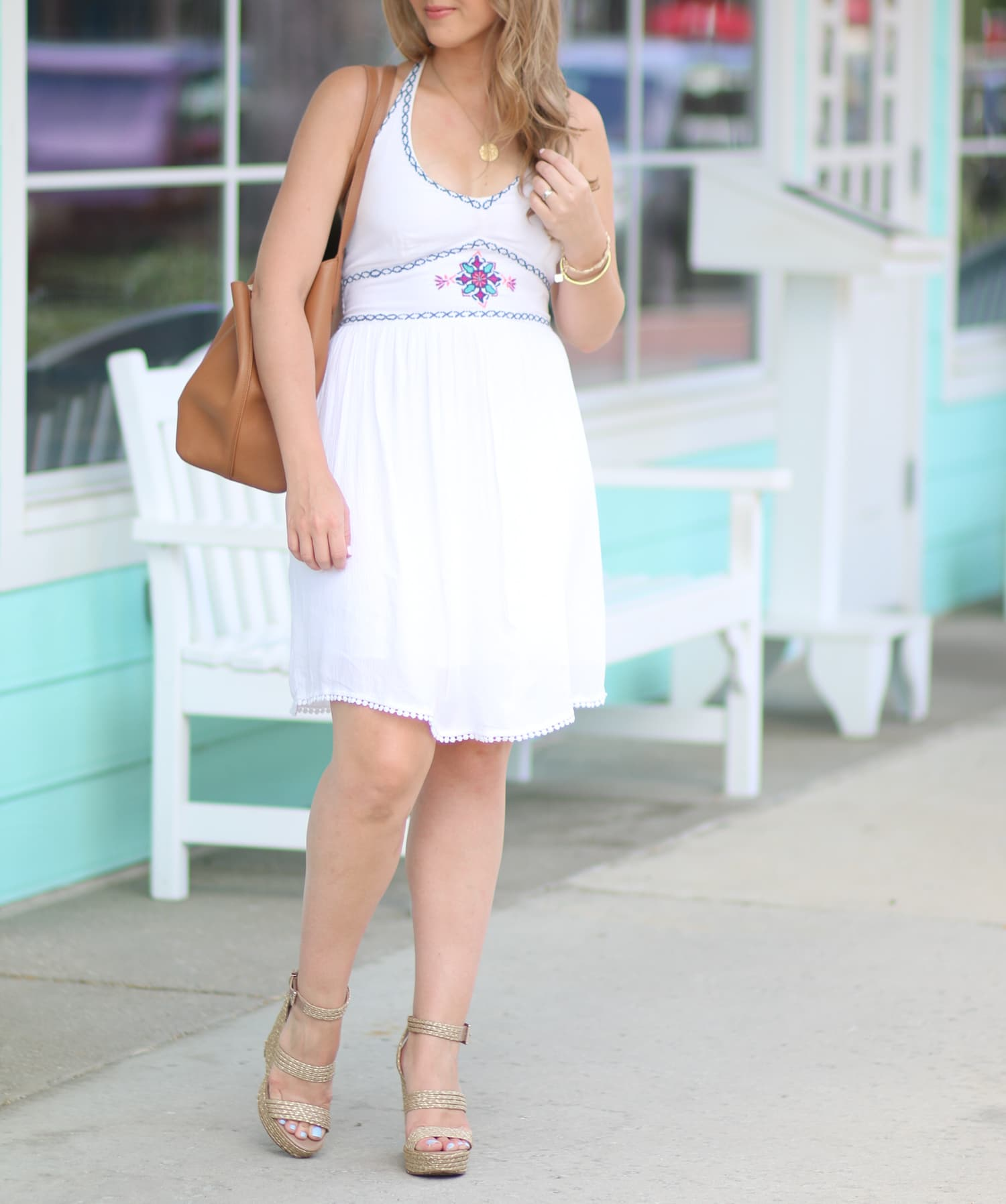 white-hollister-halter-dress-raffia-wedges-ashley-brooke-nicholas-1597