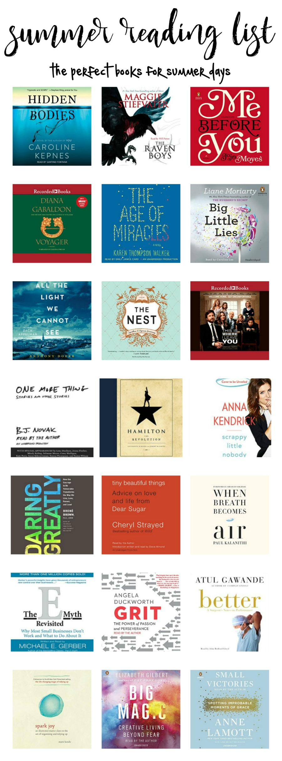 The perfect summer reading list