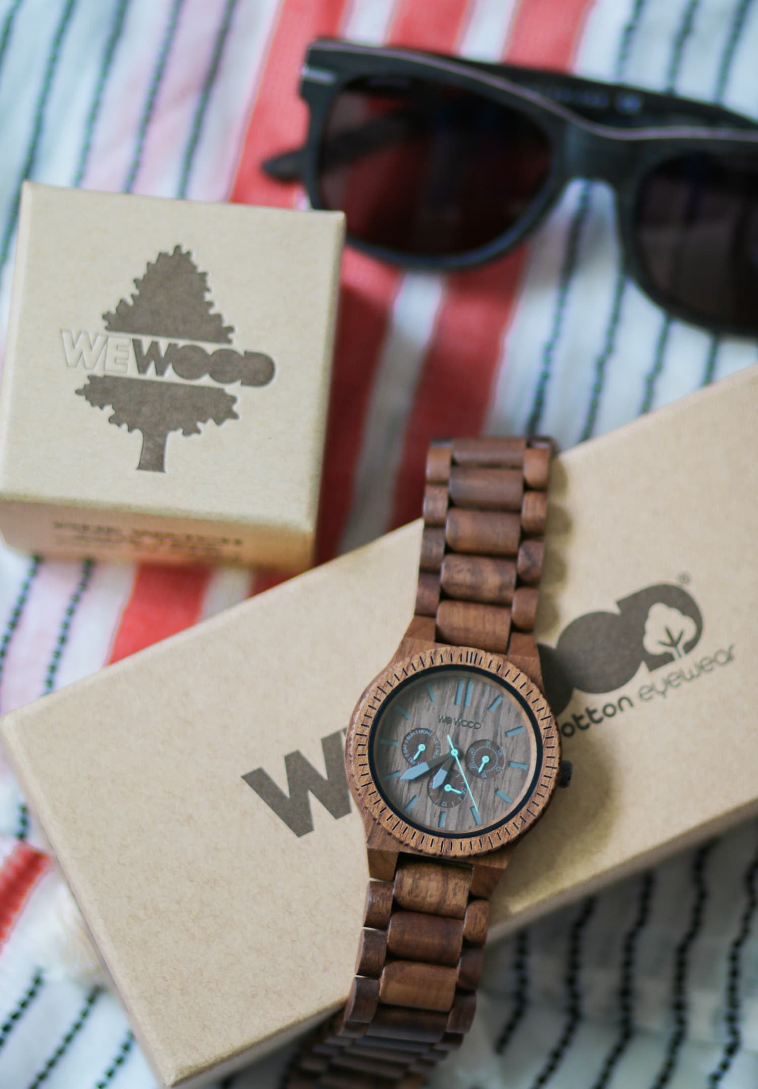 Looking for the perfect Father's Day present for your Dad or husband? WeWood watches are SO freakin' cool. They're made of wood pulp and cotton fibers, so they're eco-friendly. Plus, they designs are super trendy, and the company plants a tree for every item sold! Click through to see Ashley Brooke Nicholas full review on their watches and sunglasses + learn how you can get free shipping and a free pin removal tool to help you resize your watch at home!
