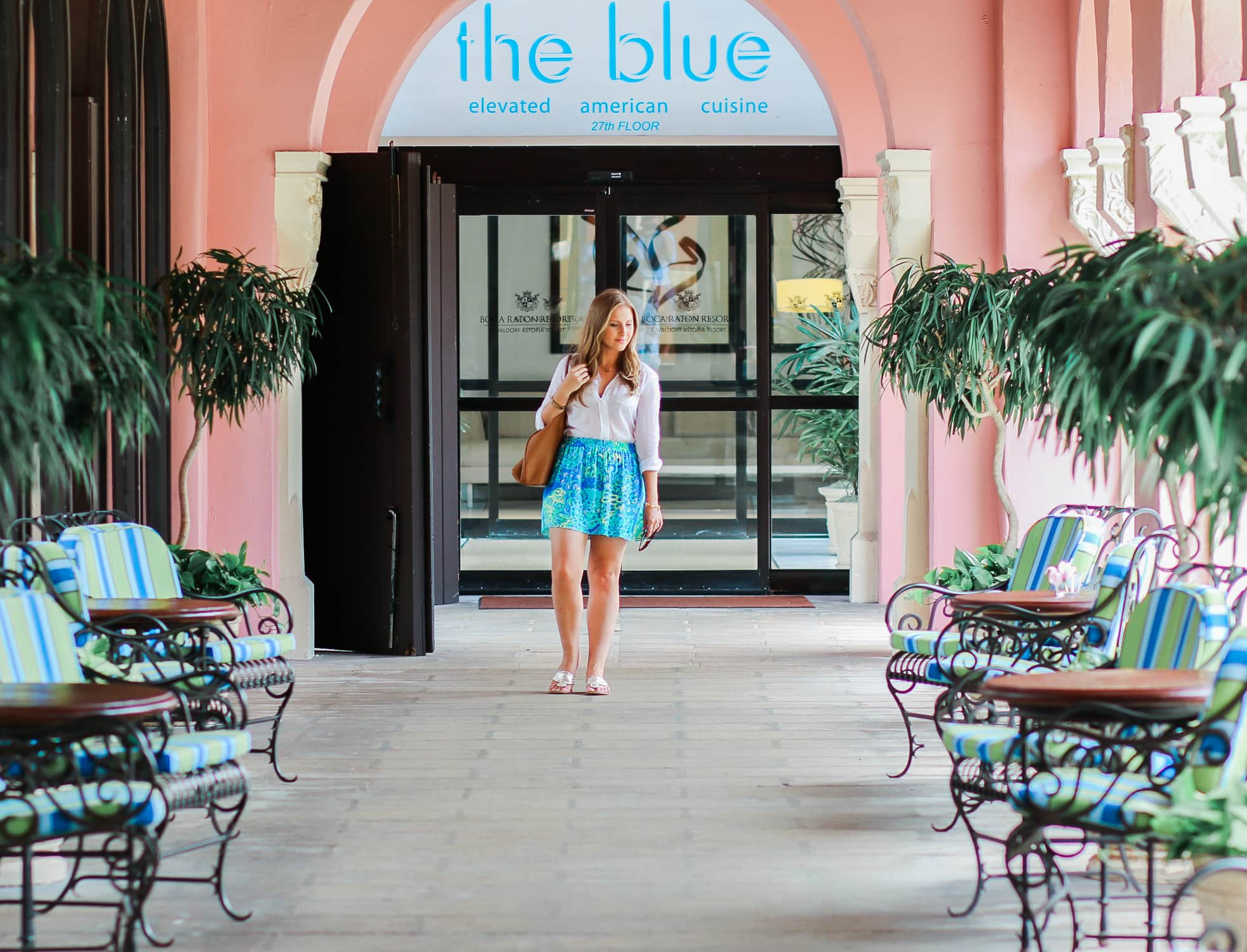 The Blue Restaurant Review A Full Of Boca Raton Resort Club By