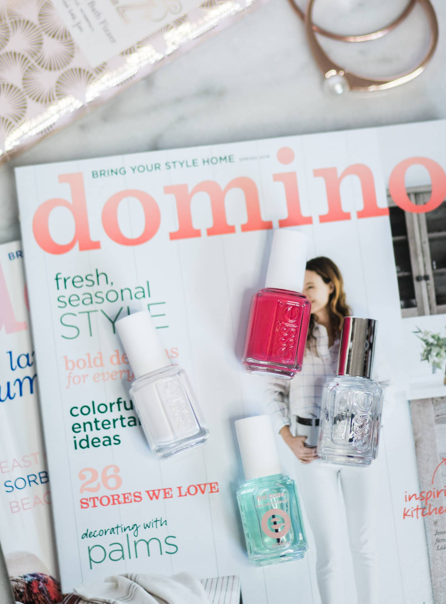 The best nail polishes for summer - Essie Coconut Cove, Berried Treasures, First Base Primer, and Gel Setter Top Coat | Summer beauty favorites by beauty blogger Ashley Brooke Nicholas