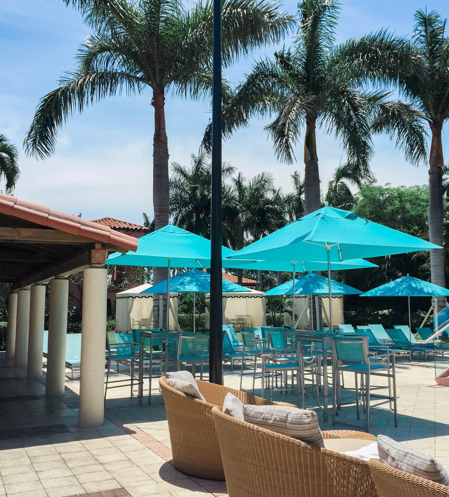 Pool area at the Boca Raton Resort + A full review of the Boca Raton Resort & Club by blogger Ashley Brooke Nicholas
