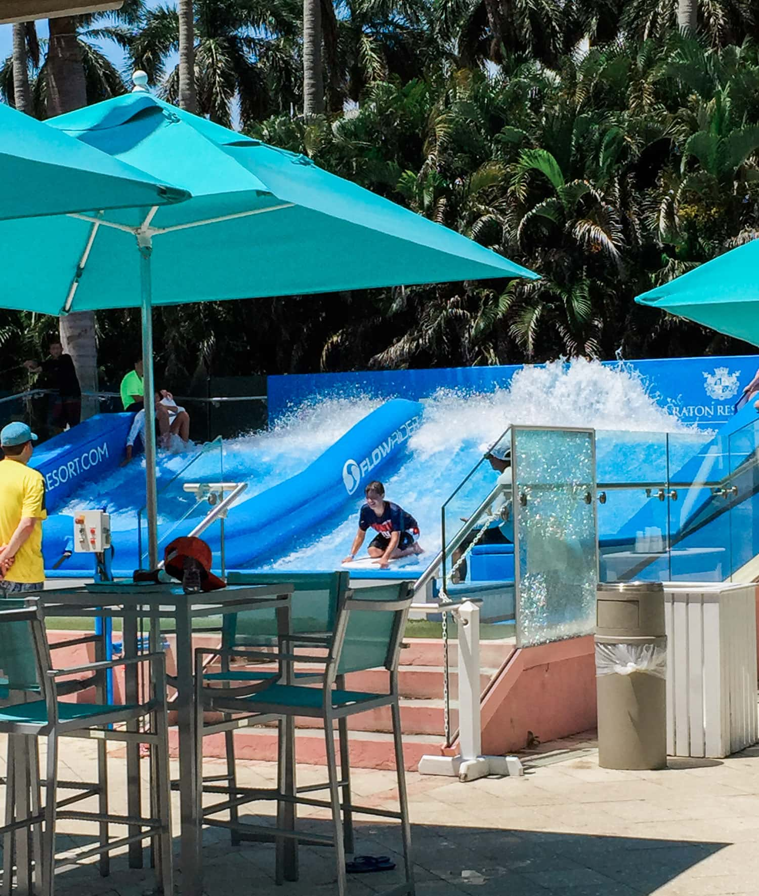 FlowRider at the Boca Resort + A full review of the Boca Raton Resort & Club by blogger Ashley Brooke Nicholas