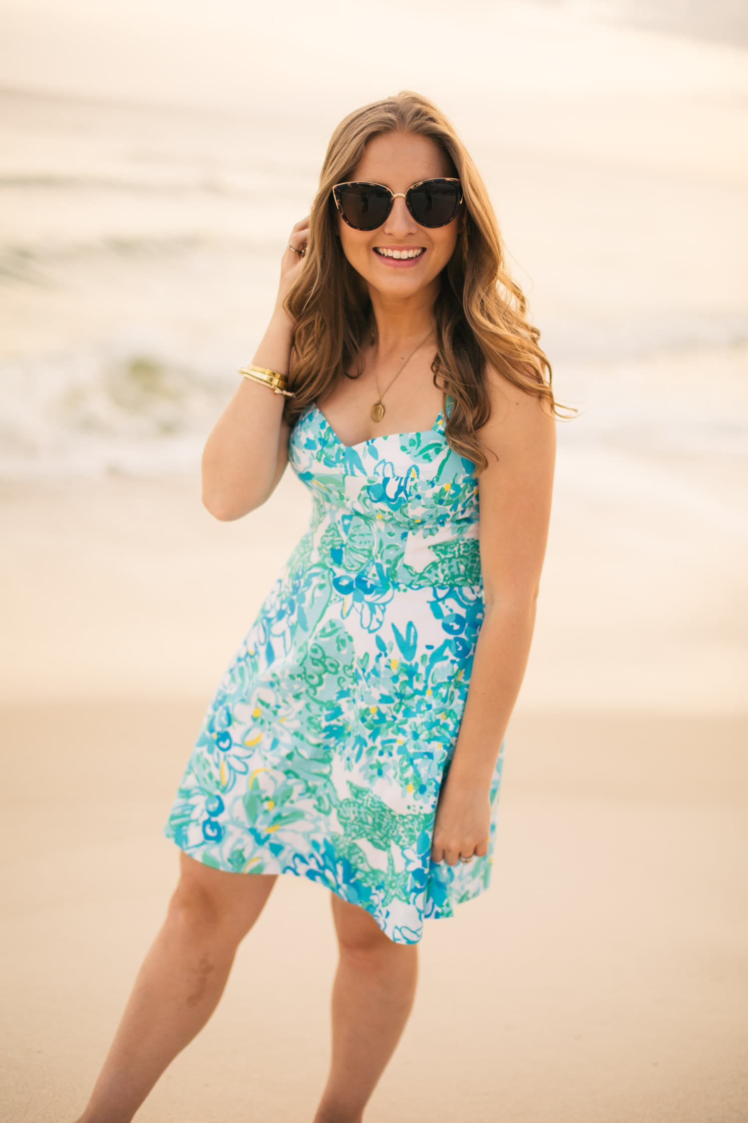 What to buy at the Lilly Pulitzer After Party Sale   Lilly Pulitzer Willow Dress In A Pinch Print   Outfit idea by style blogger Ashley Brooke Nicholas in Rosemary Beach, Florida