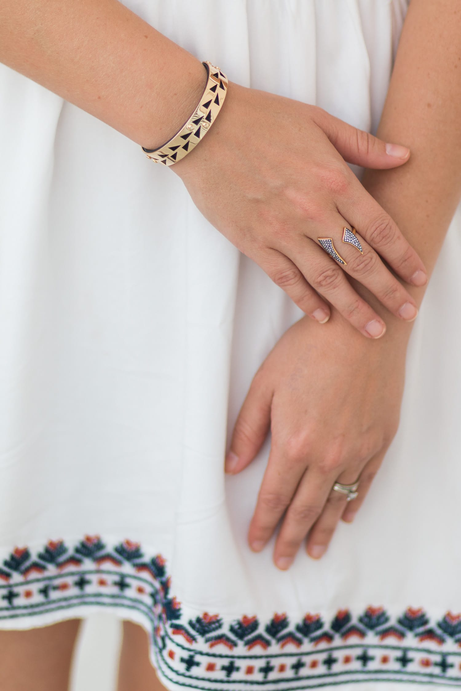A review of the Stella & Dot fall collection - including the Addison Cuff and Pave Horn Ring- by style blogger Ashley Brooke Nicholas
