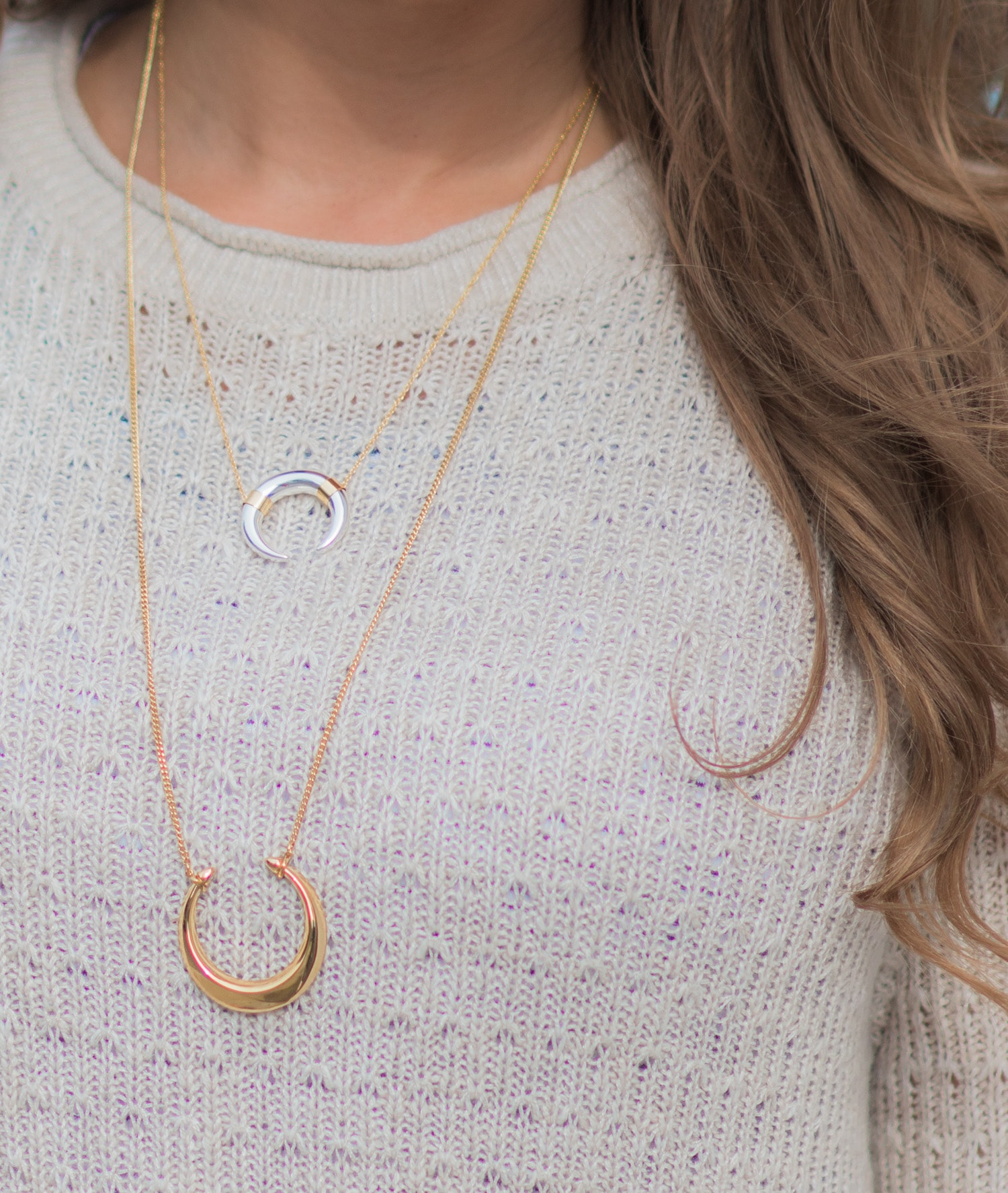 A review of the Stella & Dot fall collection - including the Stella & Dot Double Horn Pendant Necklace and  Luna Pendant Necklace by style blogger Ashley Brooke Nicholas