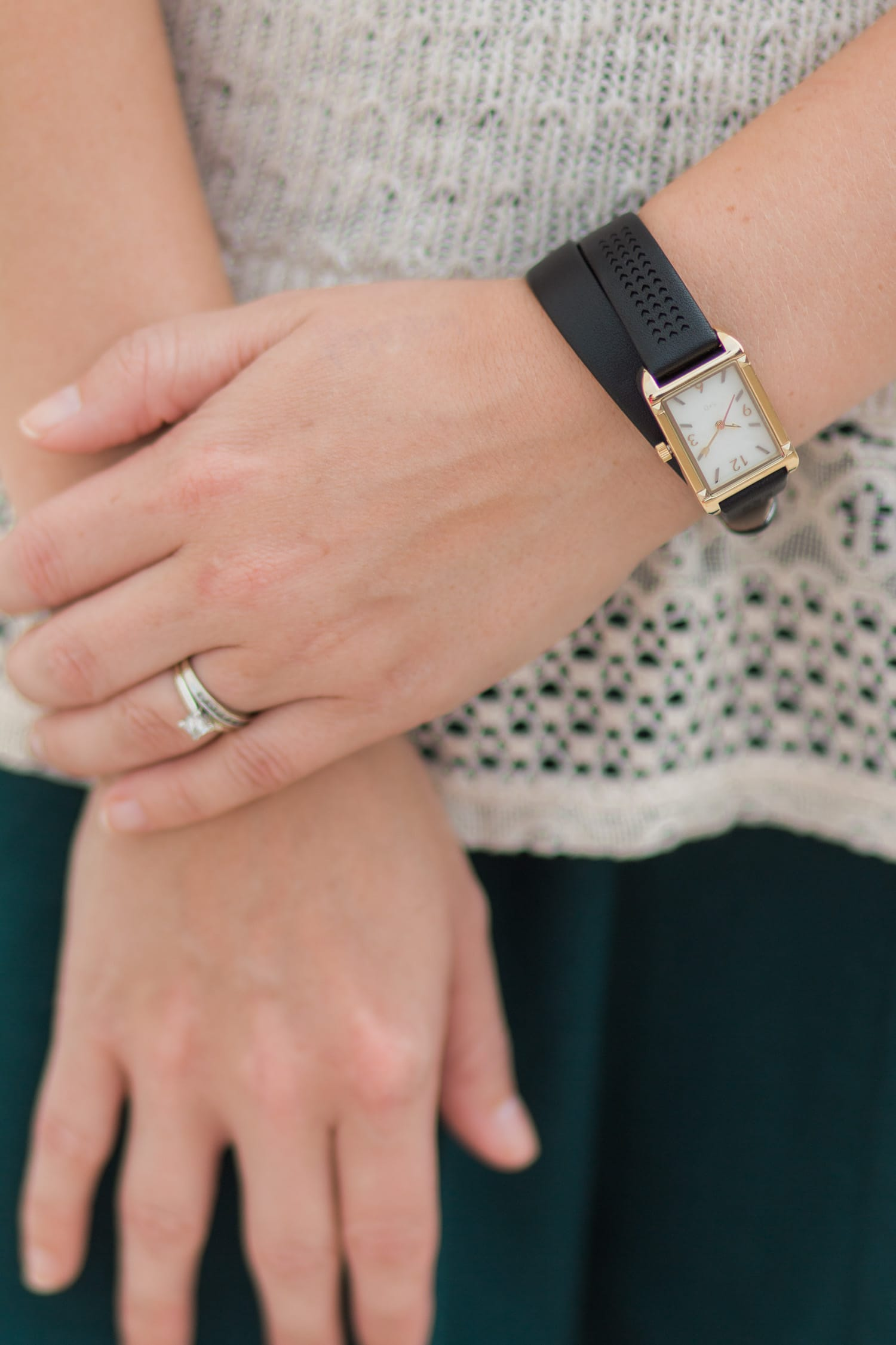 A review of the Stella & Dot fall collection - including the Pyramid Tank Watch - by style blogger Ashley Brooke Nicholas
