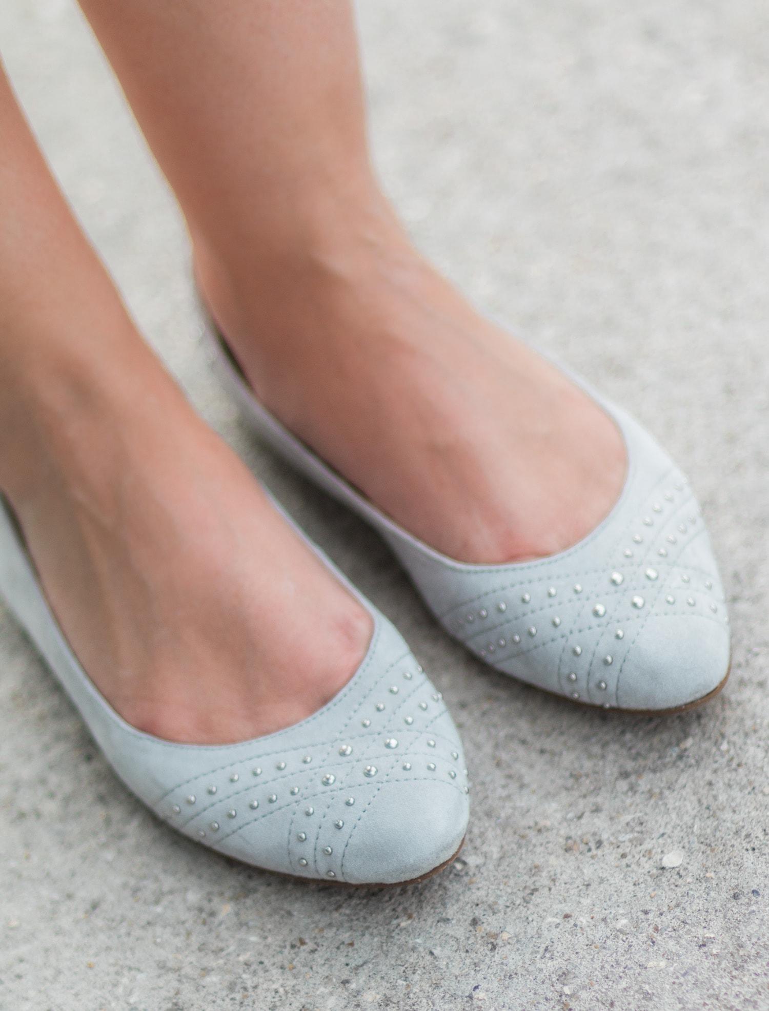 Ugg Lorelei studded grey ballet flats