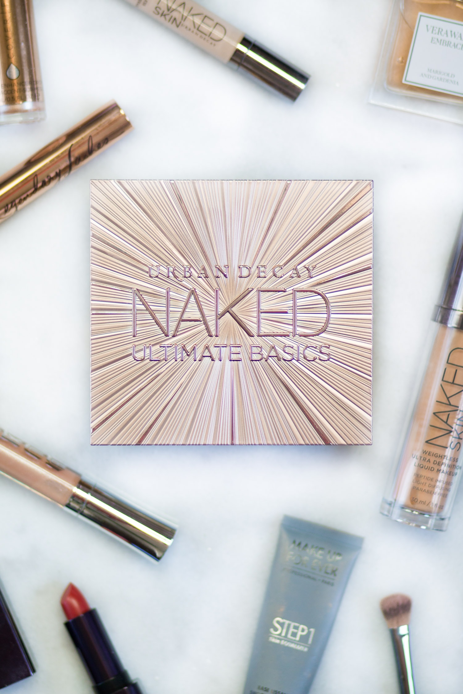Urban Decay Naked Ultimate Basics palette swatches and review by beauty blogger Ashley Brooke Nicholas