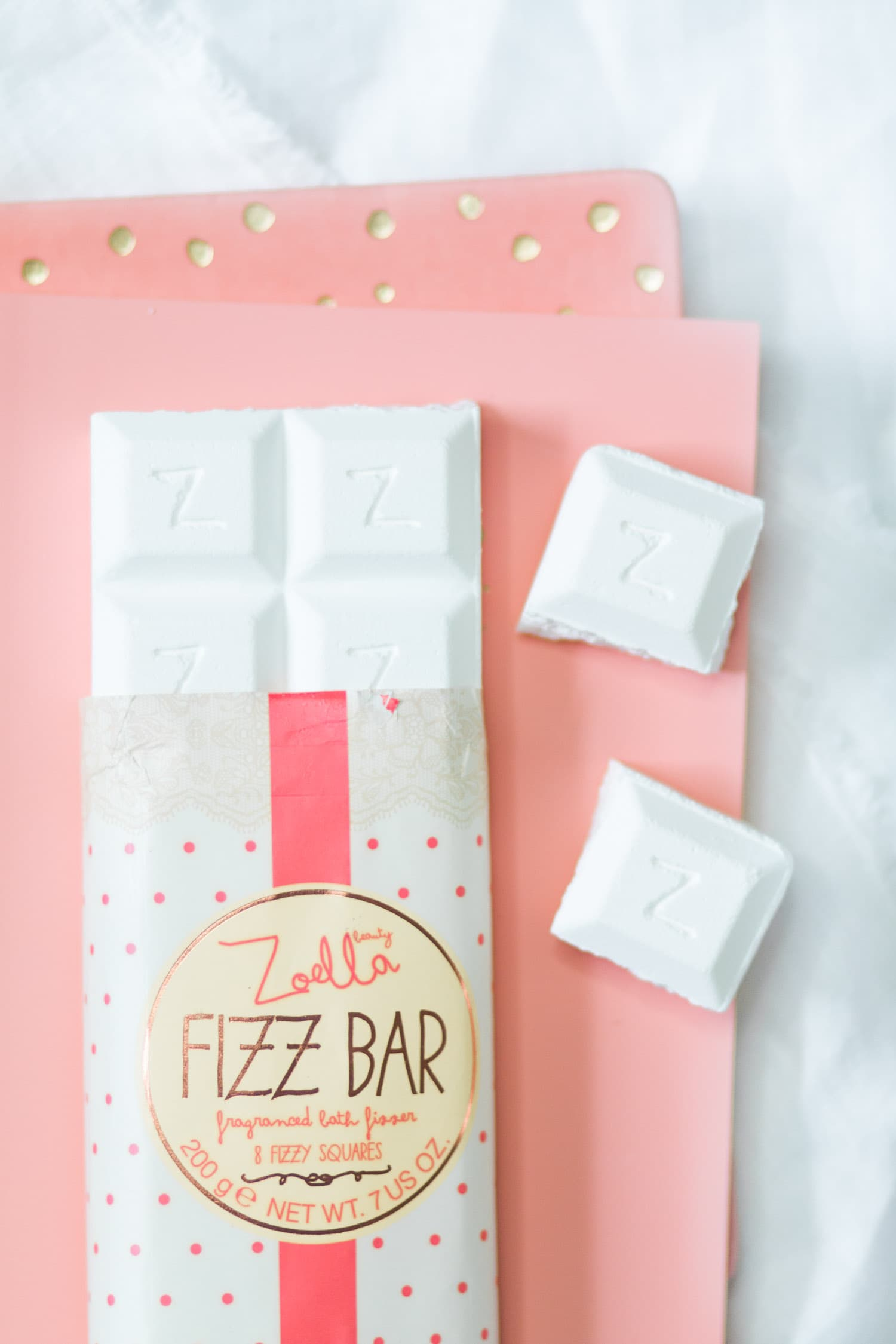 Zoella Beauty Fizz Bar fragranced bath fizzer | Review by beauty blogger Ashley Brooke Nicholas