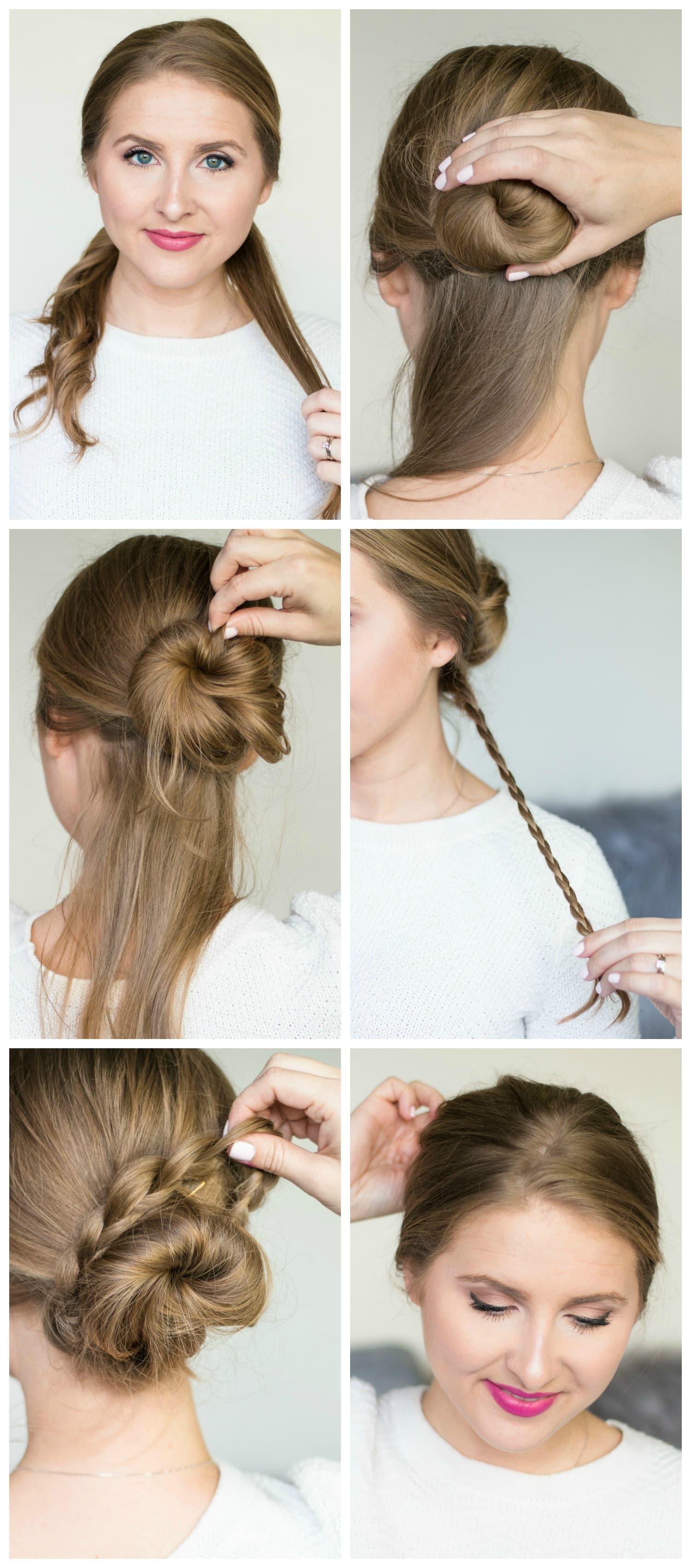 braided-messy-bun-hair-style-tutorial-pantene