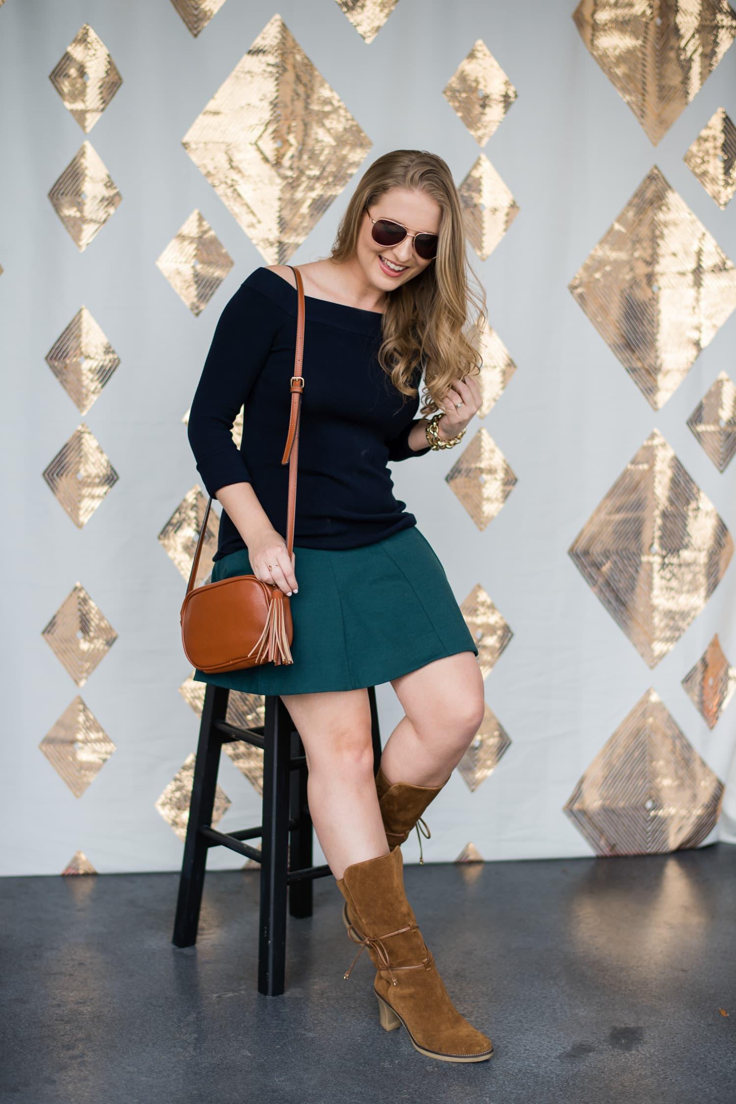 brown-suede-boots-tassel-handbag-rose-gold-aviator-sunglasses-foster-grant-3302-2