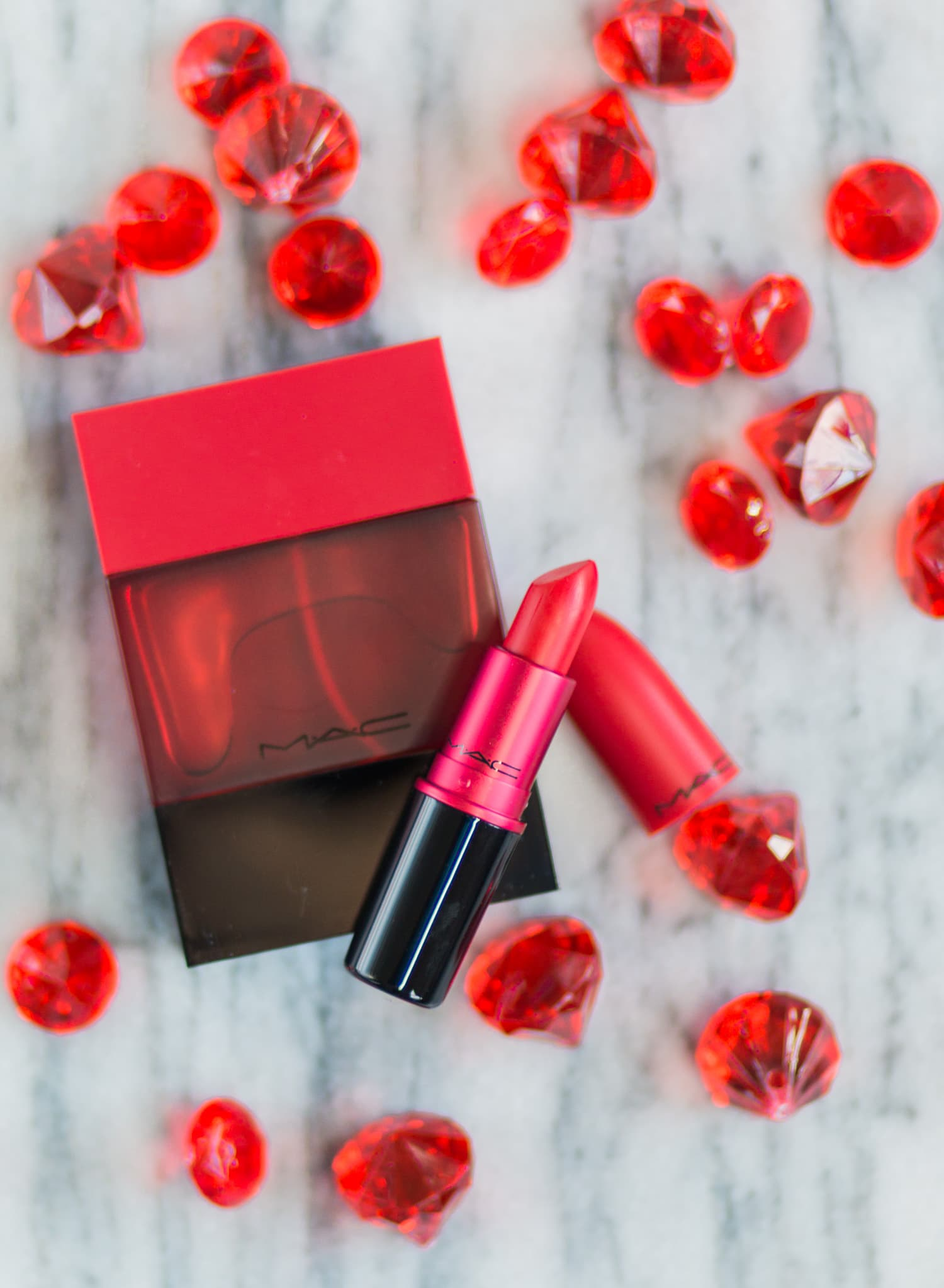 A full review of the MAC Shadescents Ruby Woo perfume and lipstick by Orlando, Florida, beauty blogger Ashley Brooke Nicholas