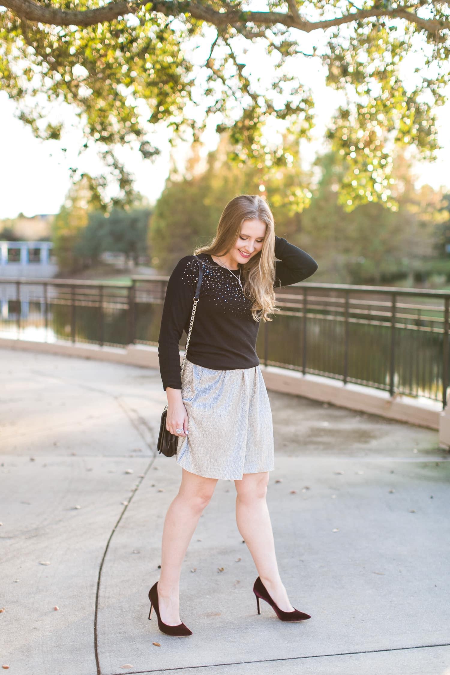 golden hour skirt sunset fashion