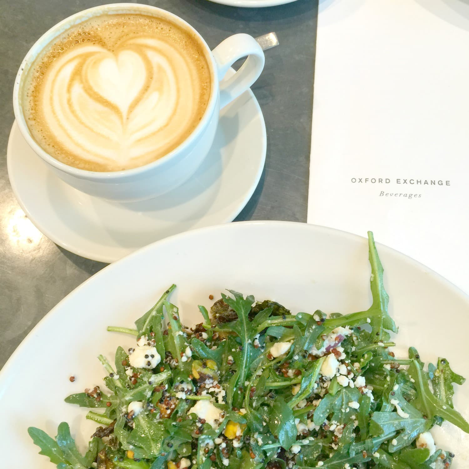 Latte Art and Kale Salad at Oxford Exchange | Tampa Florida Travel Guide | Marry Me on A Megabus Giveaway | Affordable Travel Options | Florida Travel Blogger Ashley Brooke Nicholas |