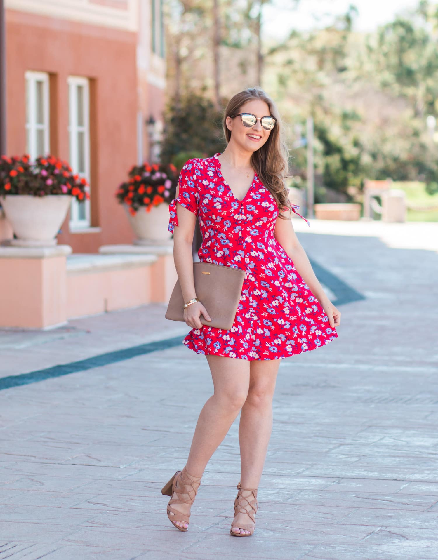 cute floral vacation dress