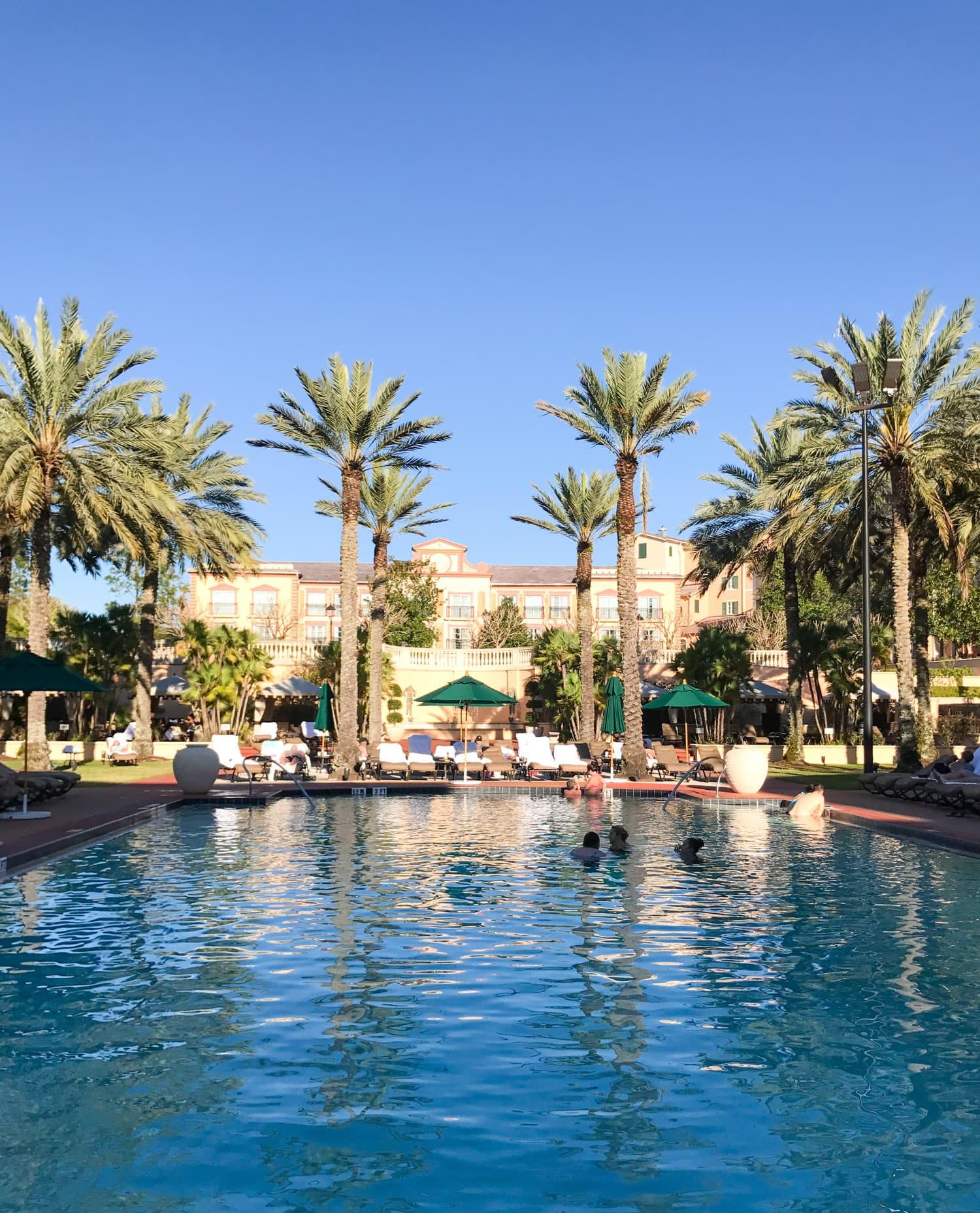 Universal resort Portofino Bay hotel pool Orlando florida