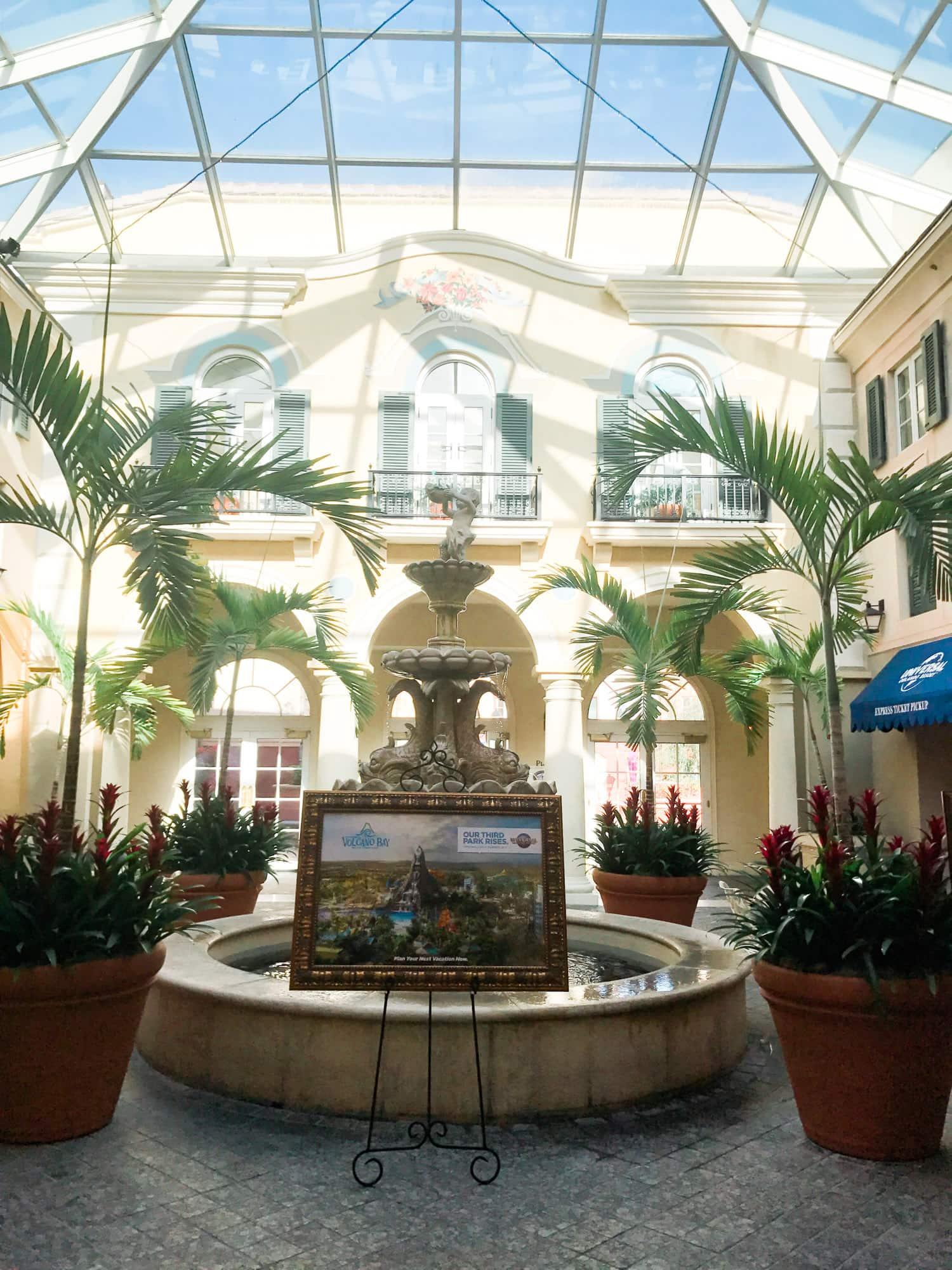 Portofino Bay Hotel Lobby review Universal resort orlando florida