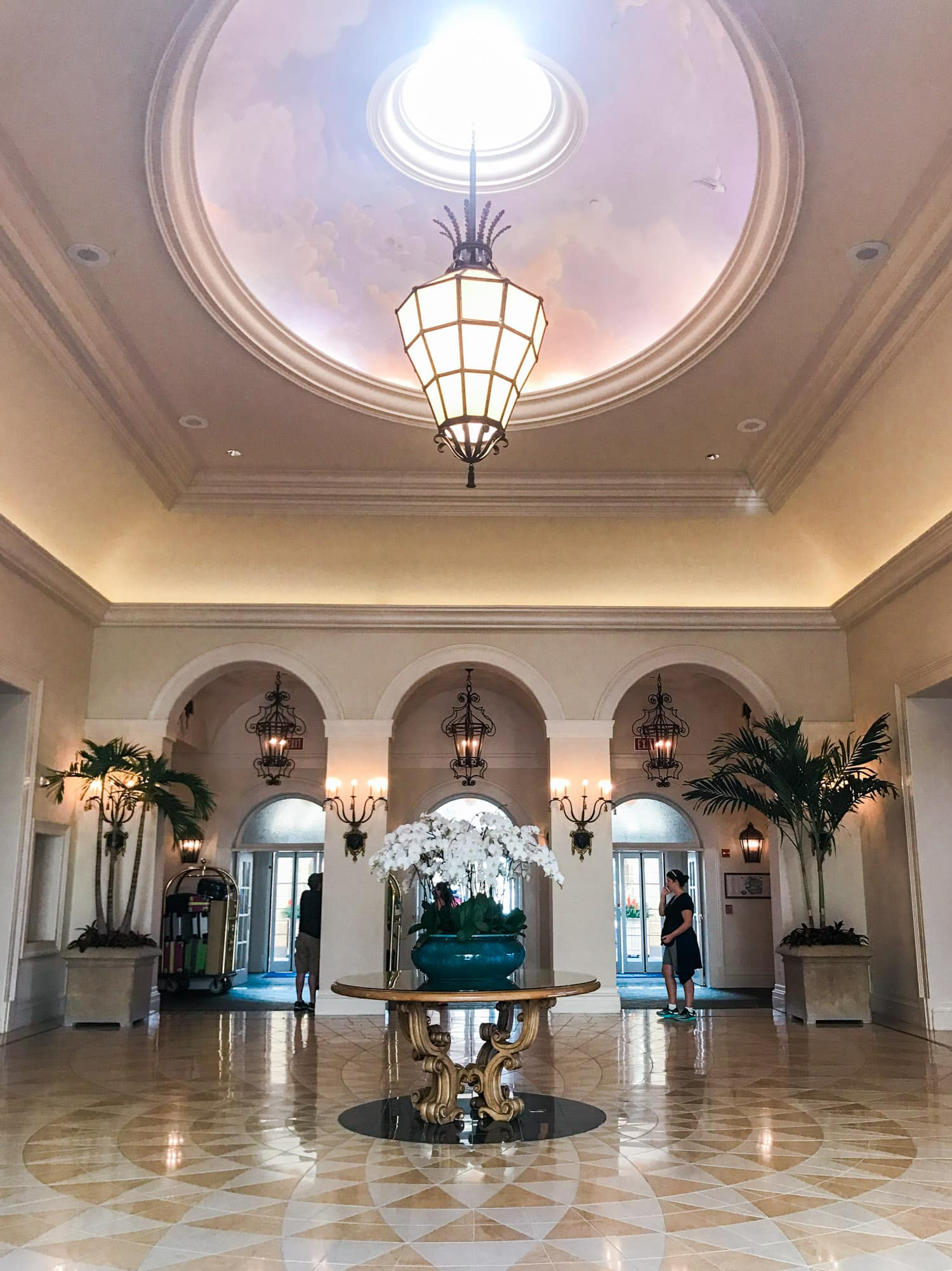 Lobby at Portofino Bay Hotel in Orlando FL