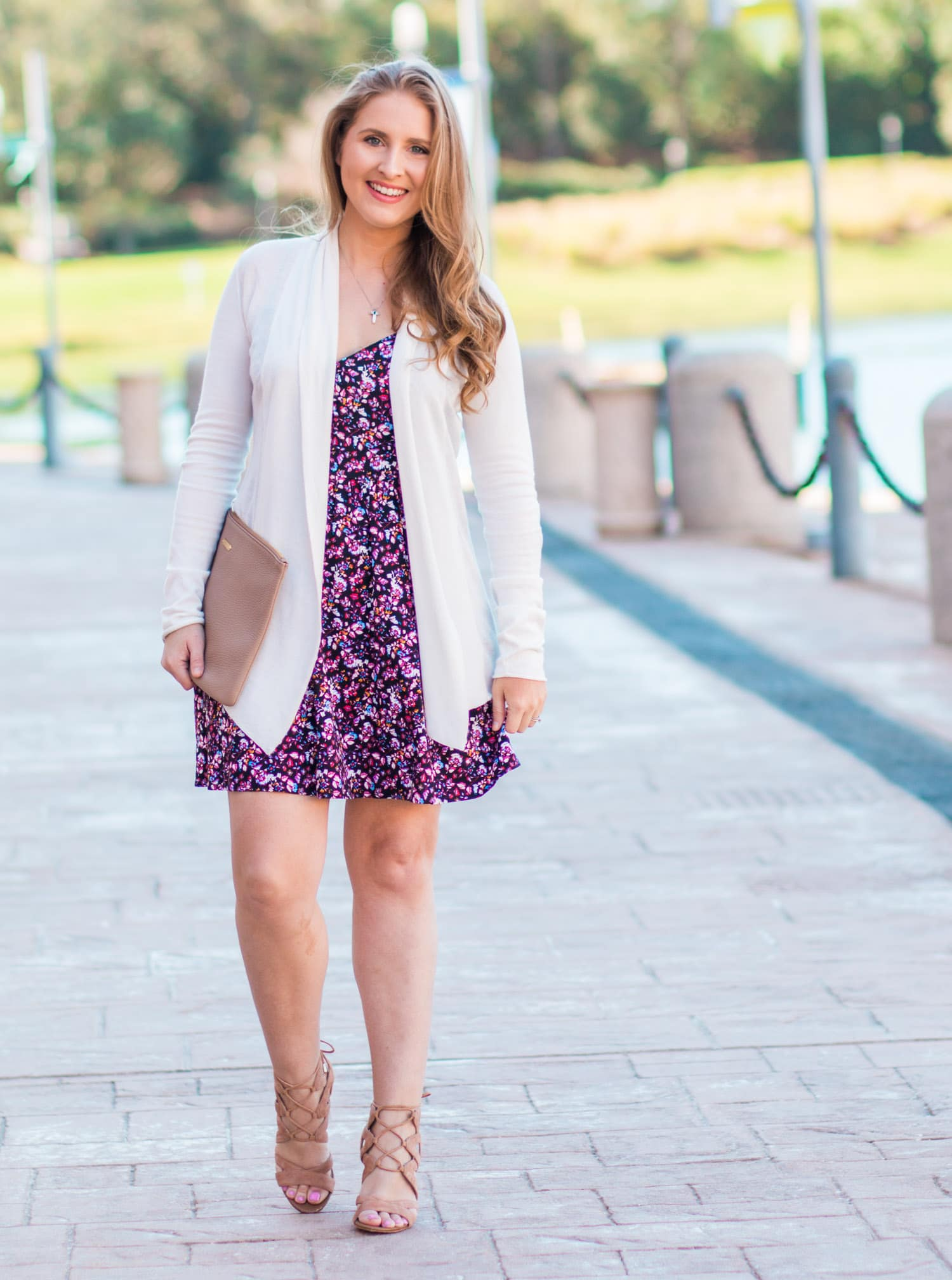 Floral style dress outfit